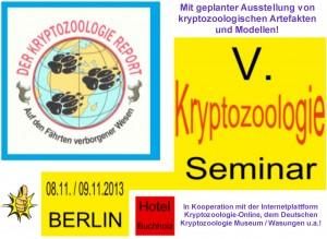 5. Kryptozoologie-Seminar Berlin 2013